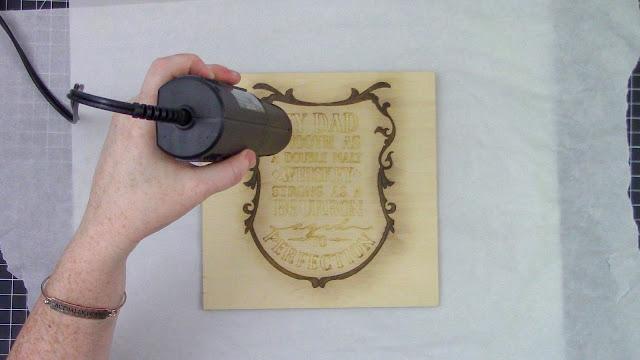 Singe Pen, Wood Sign, Sketch Pen, WRMK, Heat Gun