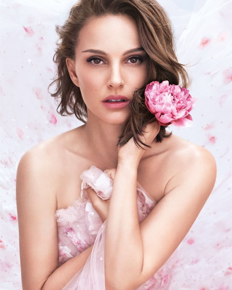 Miss Dior Rose N Roses fragrance campaign featuring actress Natalie Portman
