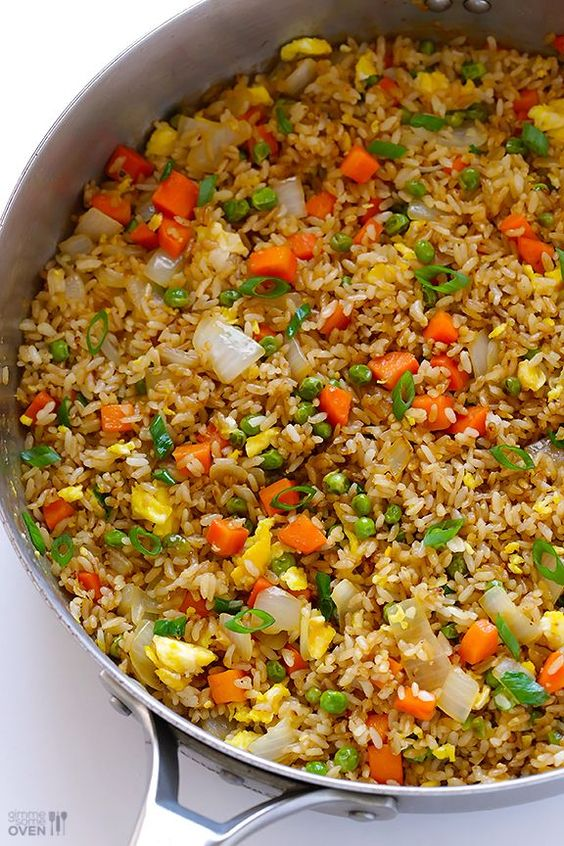 Restaurant Style Fried Rice - use gluten-free soy sauce & use gluten-free oyster sauce (or omit oyster sauce altogether since it's optional anyway)