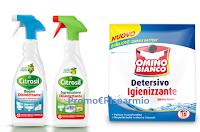 Logo Vinci gratis 35 kit ( ciascuno con 11 prodotti Citrosil HP e Omino Bianco): anticipazione!