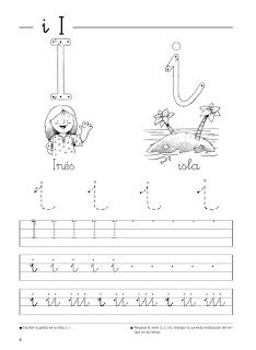 Fichas de caligrafía para niños