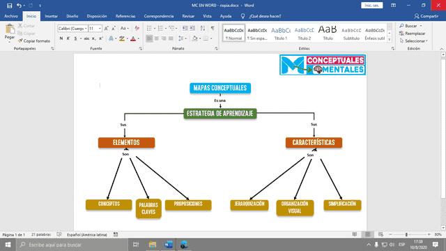 Cómo hacer un mapa conceptual en Word