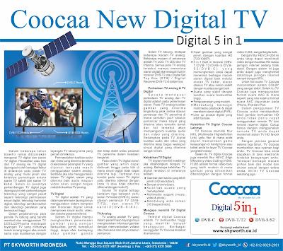 Iklan cetak TV Coocaa Skyworth Indonesia oleh Jasa desain grafis online Hakameru - Jasa layout desain pembuatan print ad iklan cetak