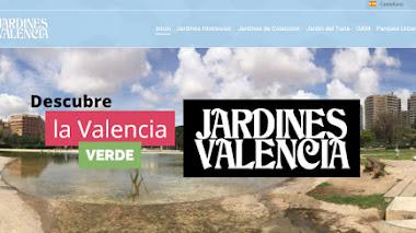 Jardines de Valencia en la web y en el móvil.