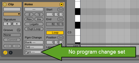 Ultimate Outsider  August 2015 Note  If your MIDI file contains program changes that occur within the song   if a single musical part changes tones as the song progresses  you will  have to