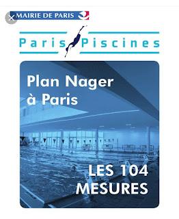 Rappor du plan Nager à Paris : 104 mesures passées au scanner