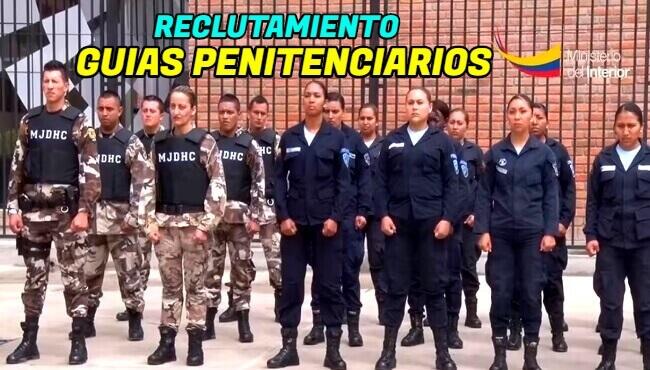 Este reclutamiento para guías penitenciarios va dirigido a hombres y mujeres ecuatorianos valientes de corazón y llenos de coraje y fuerza de voluntad para cuidar y salvaguardar y custodiar a las personas privadas de libertad.