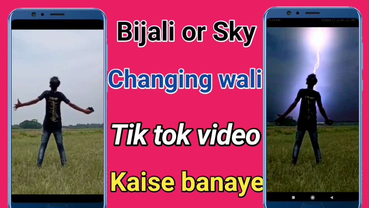 How to make Bijli Thunder and sky changing video on Tik Tok  - Rk