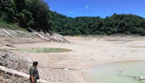 FOTOS: desaparece agua de lago de chiapas mexico.