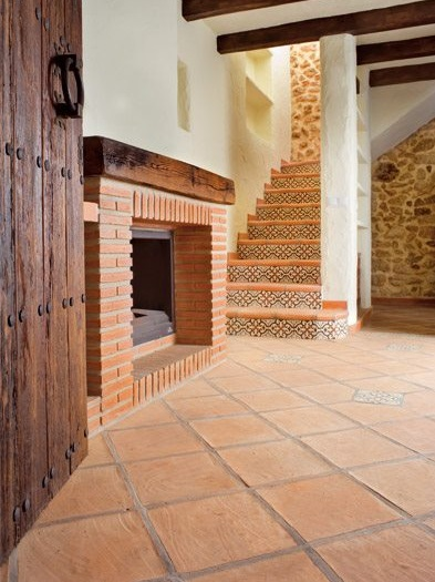 Terra antiqva decoracion de vivienda con azulejos ambiente rustico azulejos zaragoza gres y - Pavimentos rusticos para interiores ...