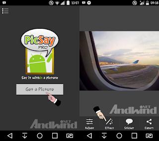 Cara membuat tulisan di kaca pesawat ber embun menggunakan aplikasi PicSay pro