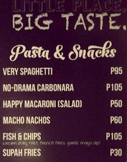 Pasta and Snacks Menu: Chevy Burger