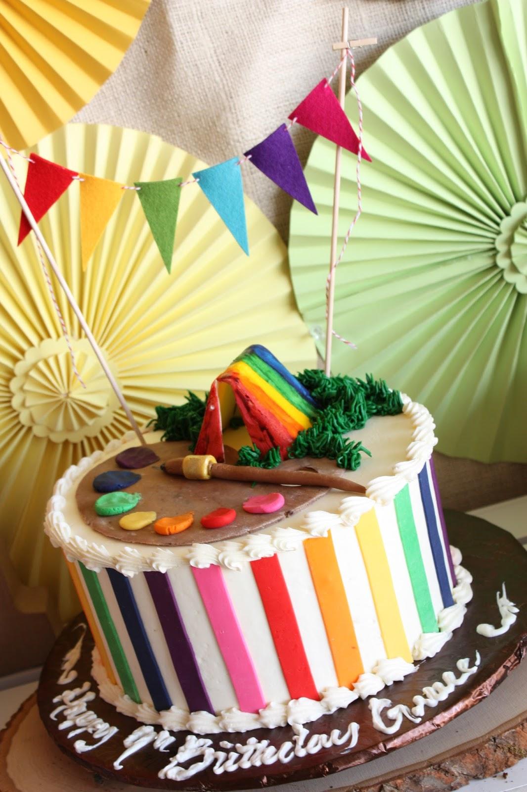 Splurge Bakery Rainbow Cake