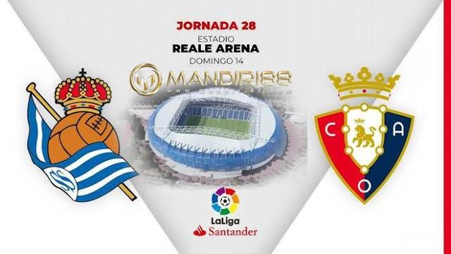 Prediksi Real Sociedad Vs Osasuna, Senin 15 Juni 2020 Pukul 03.00 WIB