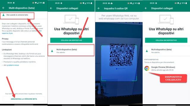 collegare dispositivi a whatsapp