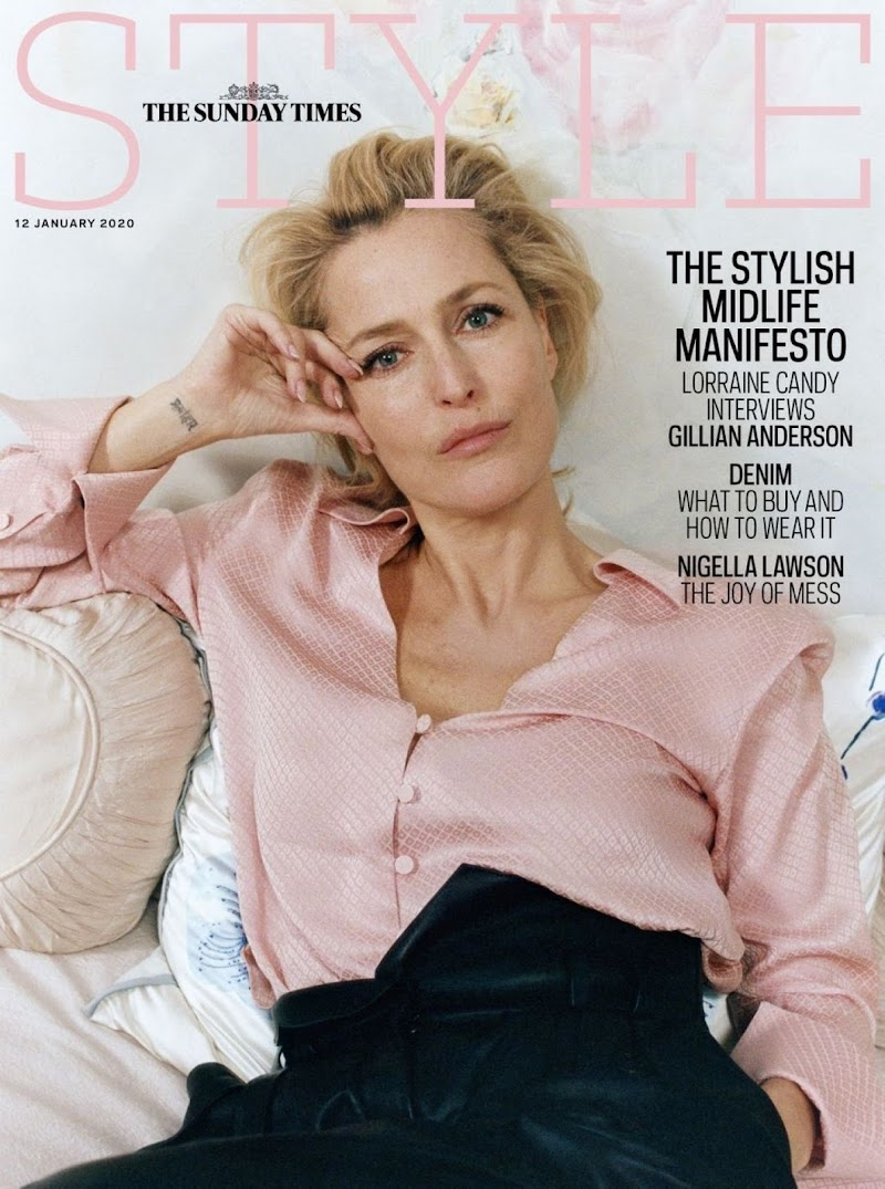 Gillian Anderson Featured For The Sunday Time Style January 2020 Issue