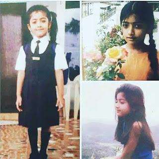 Rashmika mandanna,s childhood
