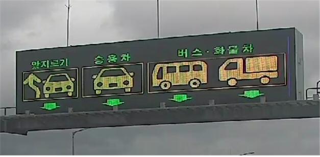 지정차로제에 따른 '고속도로' 차로 구분 방법