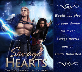 Fantasy Romance, Shifter Romance, Male conjures lightning and possesively holds a she-wolf in his arms in the center of a lightning storm