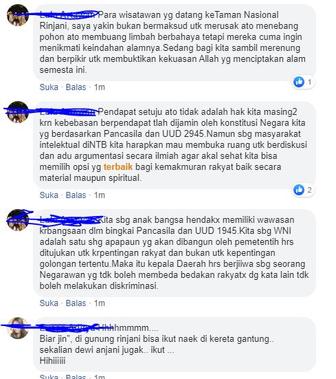 Pro Kontra Terkait Pembangunan Kereta Gantung di Gunung Rinjani.