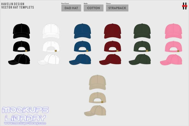 Hat Mockup Design Vector