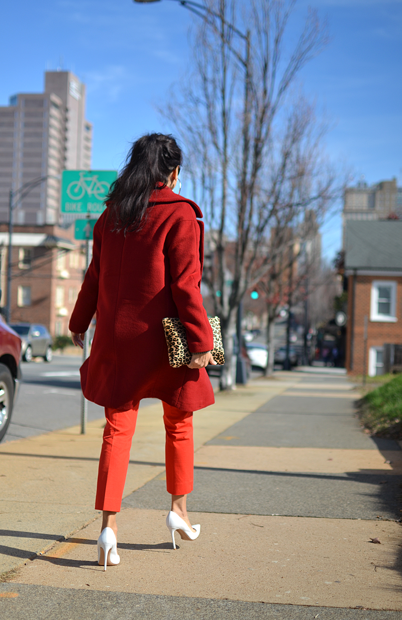 Red and orange street style