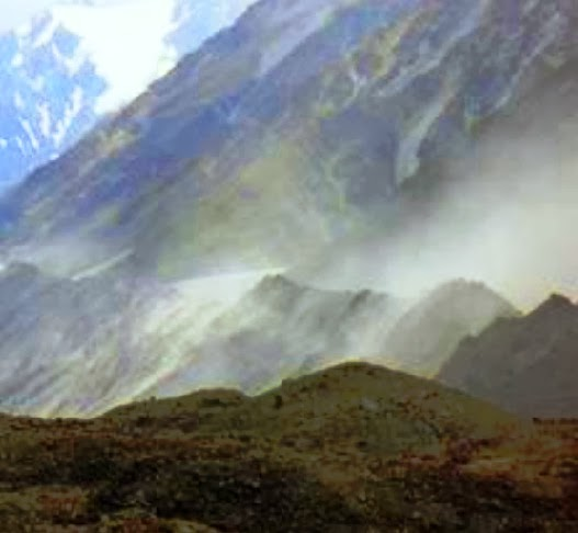 Dust storm form Tasman Glacier which form Christchurch loess soil