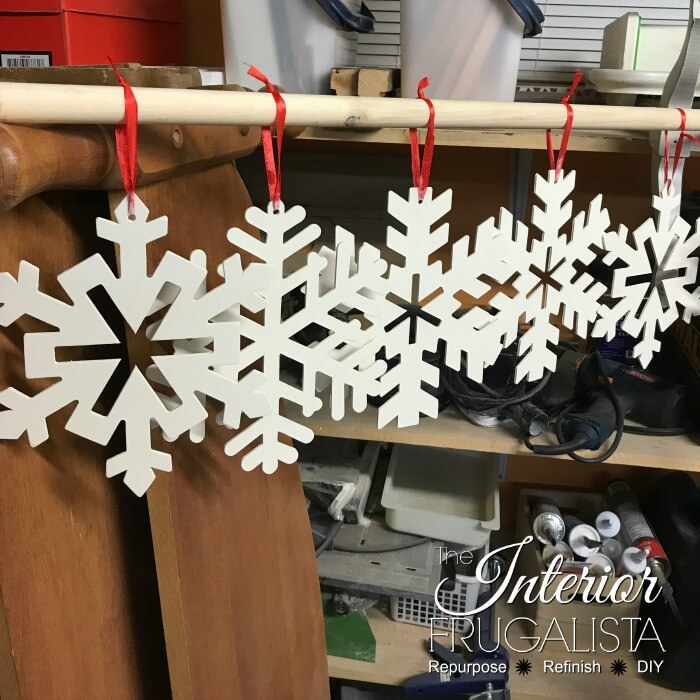 Large Snowflake Craft Painted White