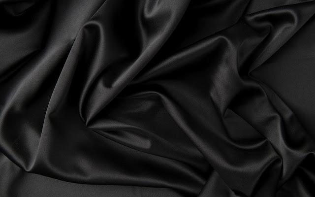 Zwarte satijn stoffen laken