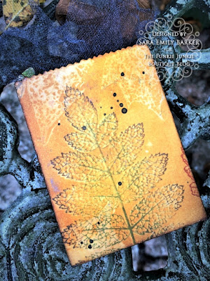 Sara Emily Barker https://frillyandfunkie.blogspot.com/2019/10/saturday-showcase-stampers-anonymous.html Fall Treat Bag Saturday Showcase Pressed Foliage 2