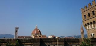 Duomo de Florencia desde la Galleria degli Uffizi.