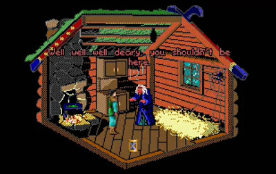 Huevo de Pascua King's Quest III - Baba Yaga