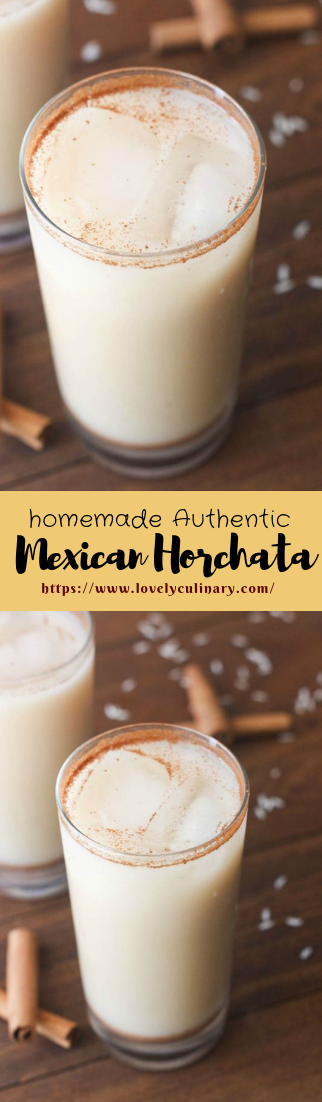 homemade Authentic Mexican Horchata #sweetdrink #Easyrecipe