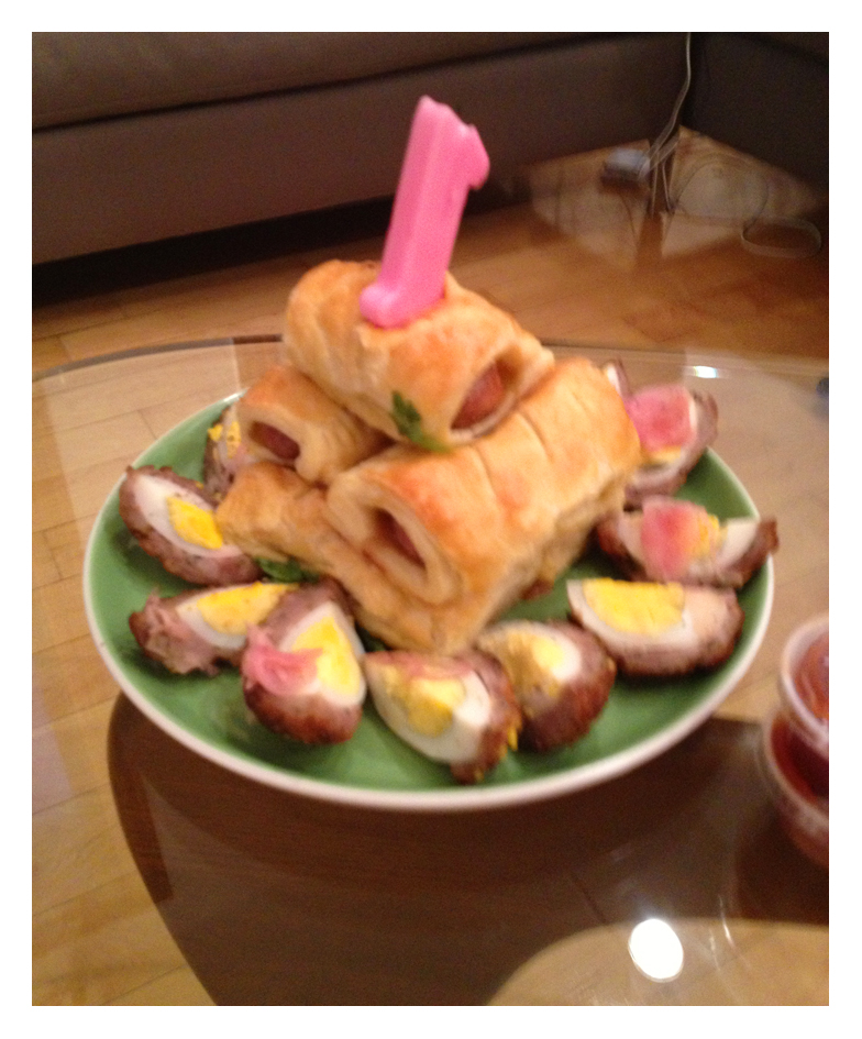 Scotch Egg Birthday Cake