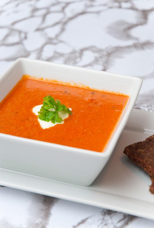 Rezept Tomaten Kokos Suppe kalorienarm