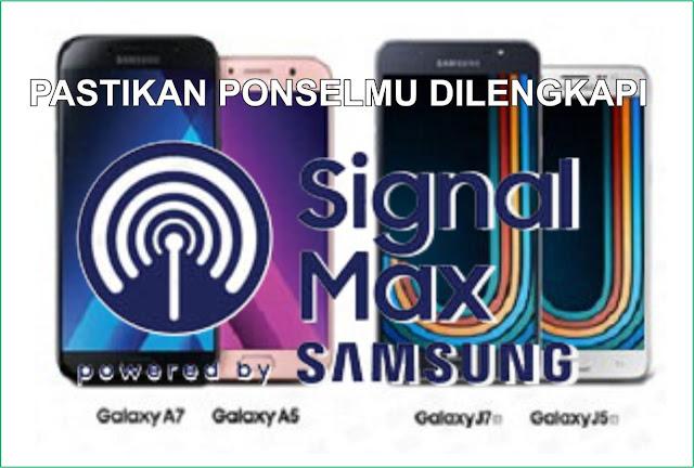 Signal Max di ponsel Samsung
