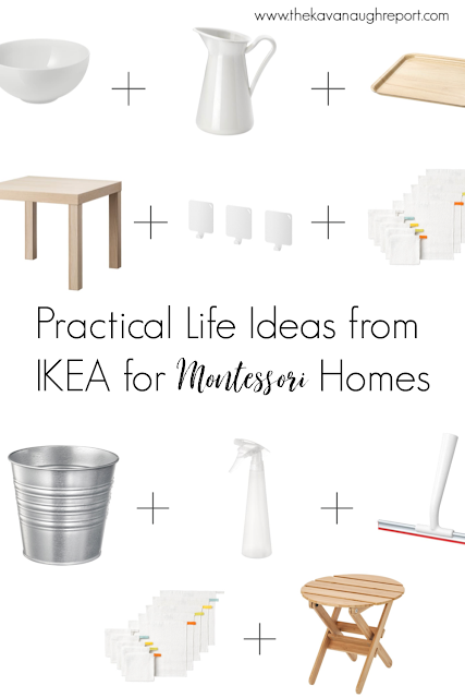 Practical life ideas from IKEA for Montessori homes
