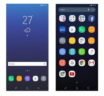 Interface TouchWiz UI Samsung Galaxy S8 bocor dengan beberapa perubahan