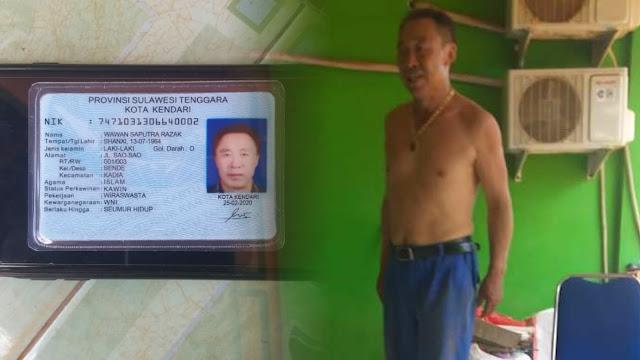 WNA China Buat KTP Palsu Pakai Nama Wawan, Dukcapil Kendari Diduga Terlibat