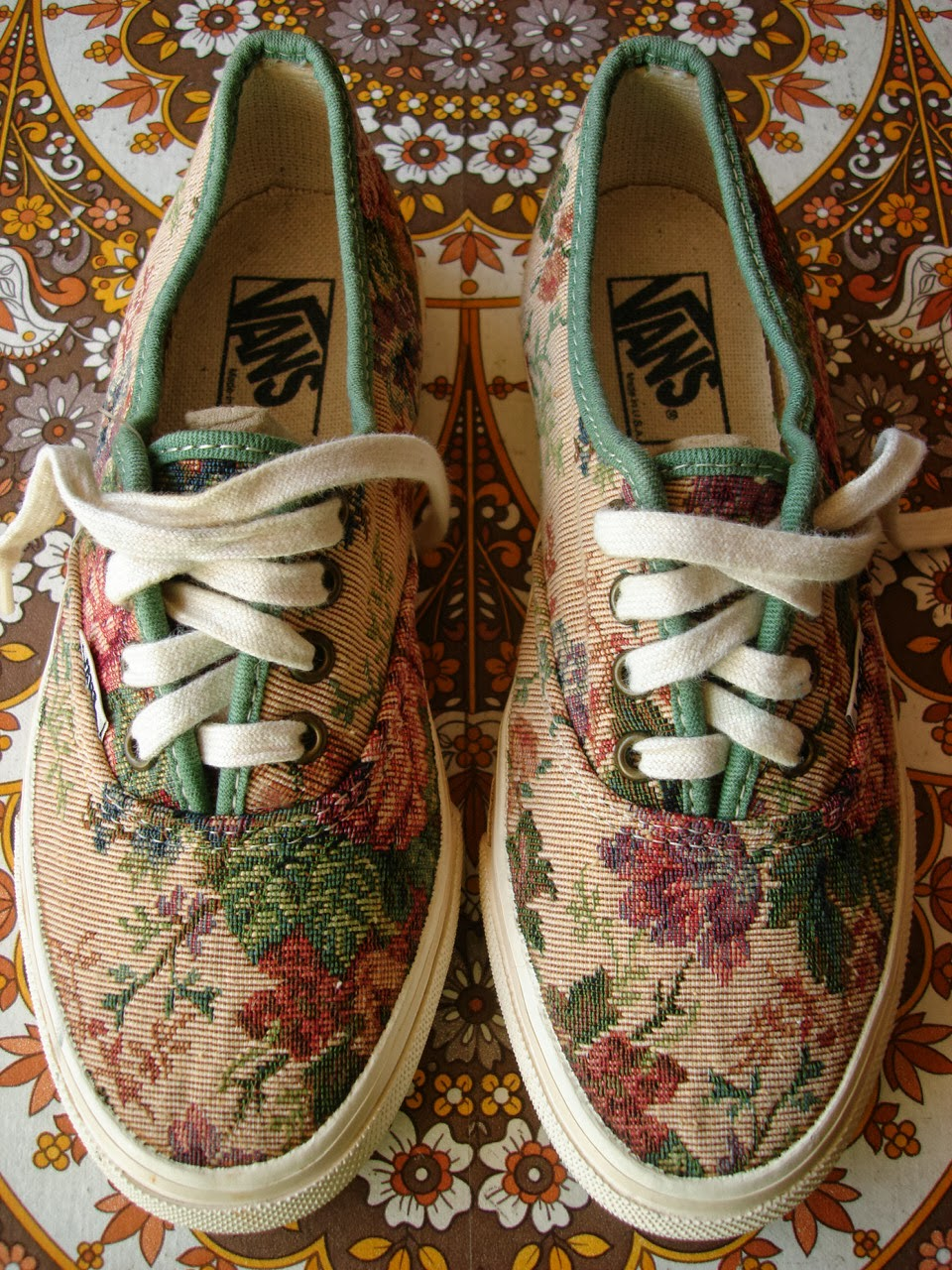 Theothersideofthepillow Vintage Vans Floral Tea Tapestry