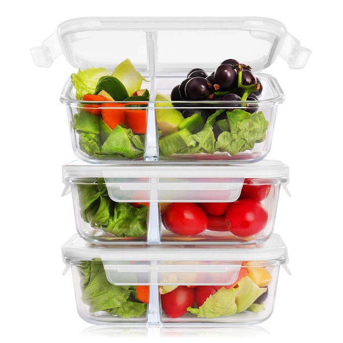 AMAZON - 60% off glass meal prep containers