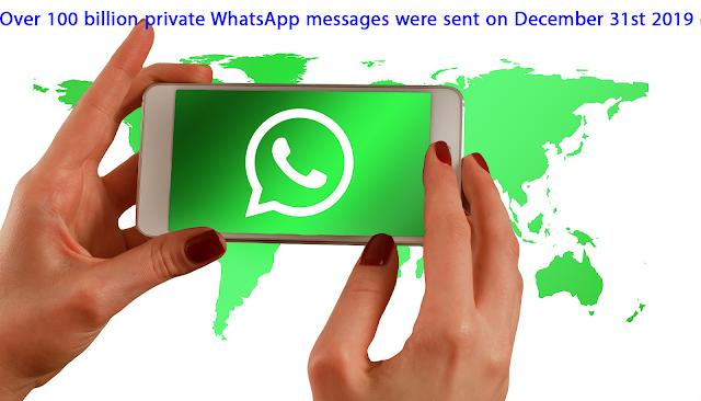واتساب: تم إرسال أكثر من 100 مليار رسالة عبر التطبيق ليلة رأس السنة