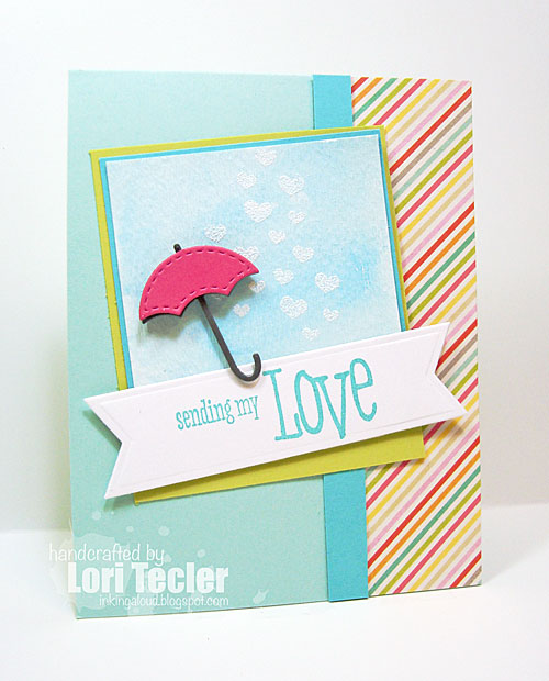 Sending You Love card-designed by Lori Tecler/Inking Aloud-stamps and dies from WPlus9