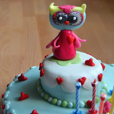 Handmade owl cake for my daughter