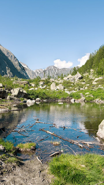 Valley, Landscape, Lake, Mountains, Stones, Rocks