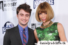 Daniel Radcliffe presents at 15th Annual Webby Awards: WWoHP website wins webby
