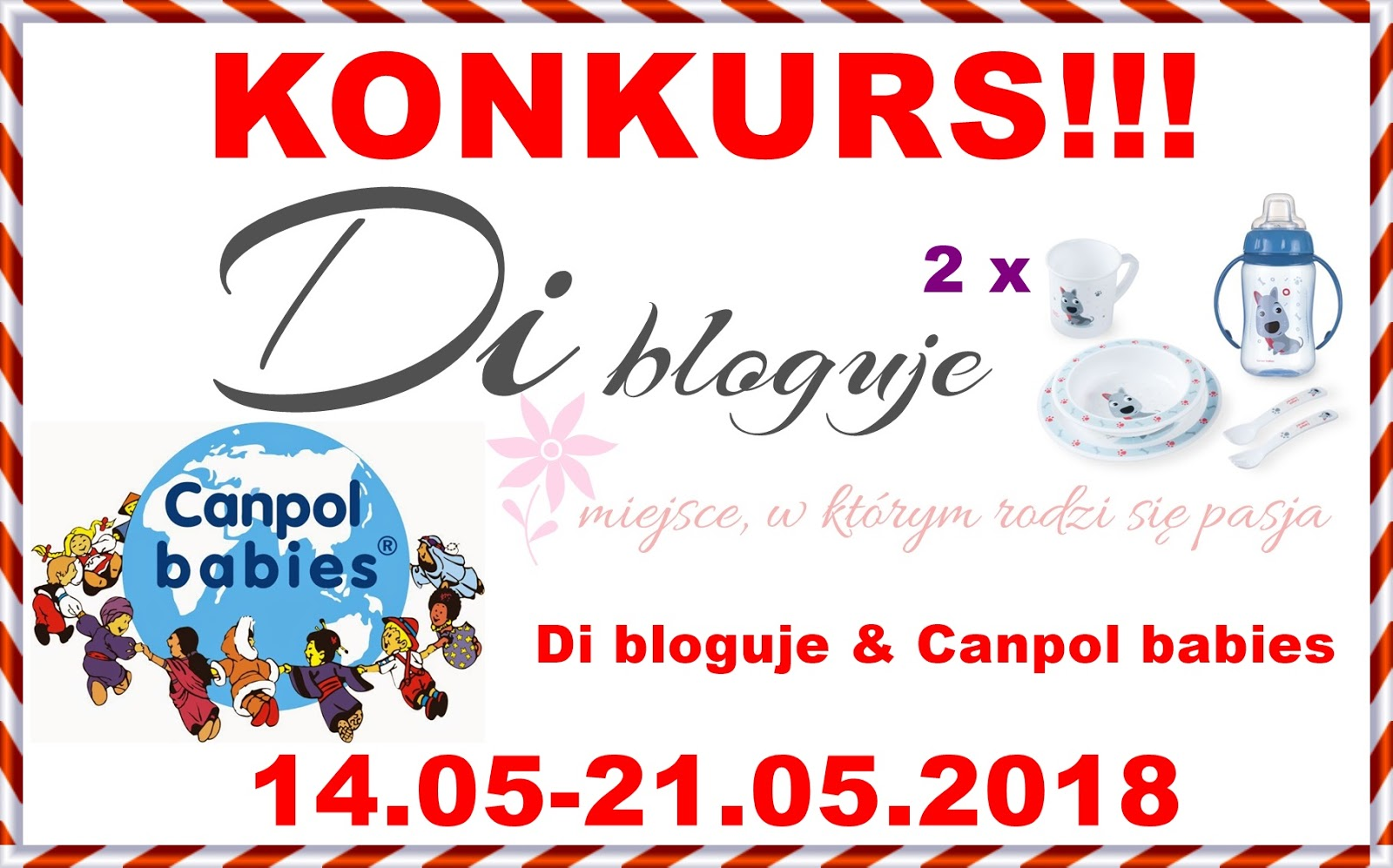 Konkurs - Di bloguje & Canpol babies - do wygrania 2 zestawy CUTE ANIMALS