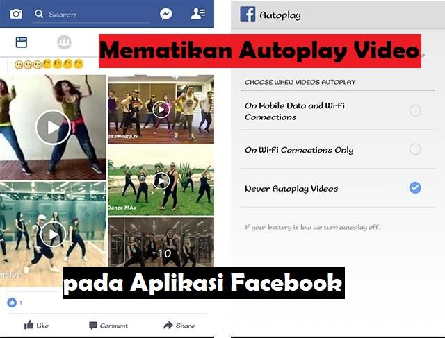 Cara mematikan Autoplay Video pada Aplikasi Facebook