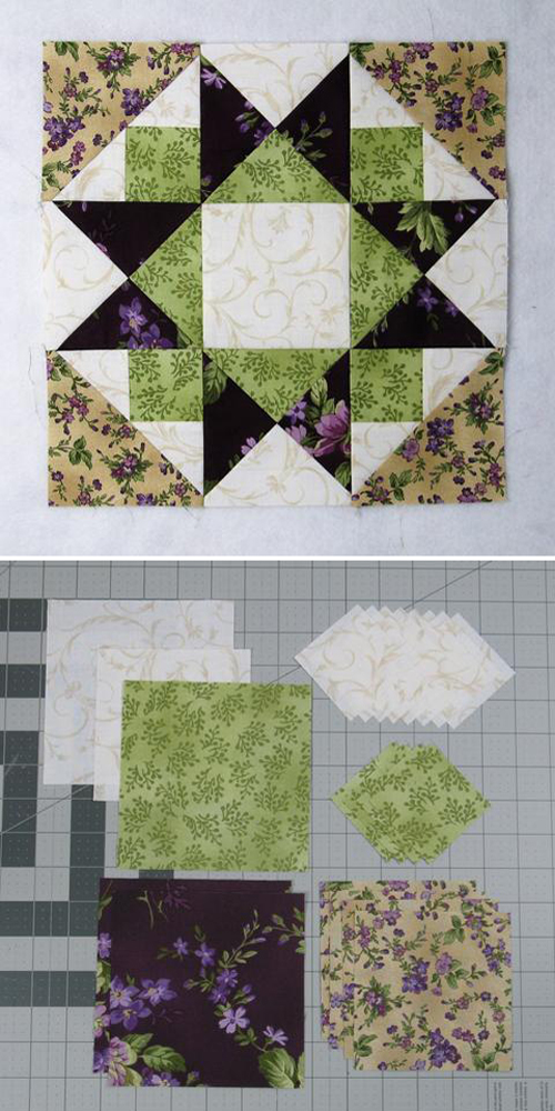 Another Morning Star Quilt Block - Free Pattern