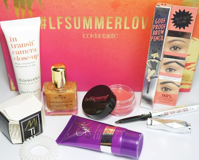 LookFantastic - Beauty Box (#LFSUMMERLOVIN - Juli 2016) This Works, benefit, Mi Ti, Kebelo, NUXE, bellapierre, cosmetics, unboxing